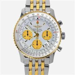 BREITLING 42MM NAVITIMER CHRONOGRAPH 2 TONE WHITE AND CHAMPAGNE DIAL D23322