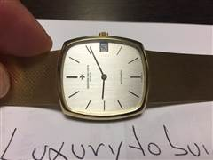 VACHERON CONSTANTIN AUTOMATIC IN 18K. YG 90 GRAMS. 100% AUTHENTIC WITH BOX